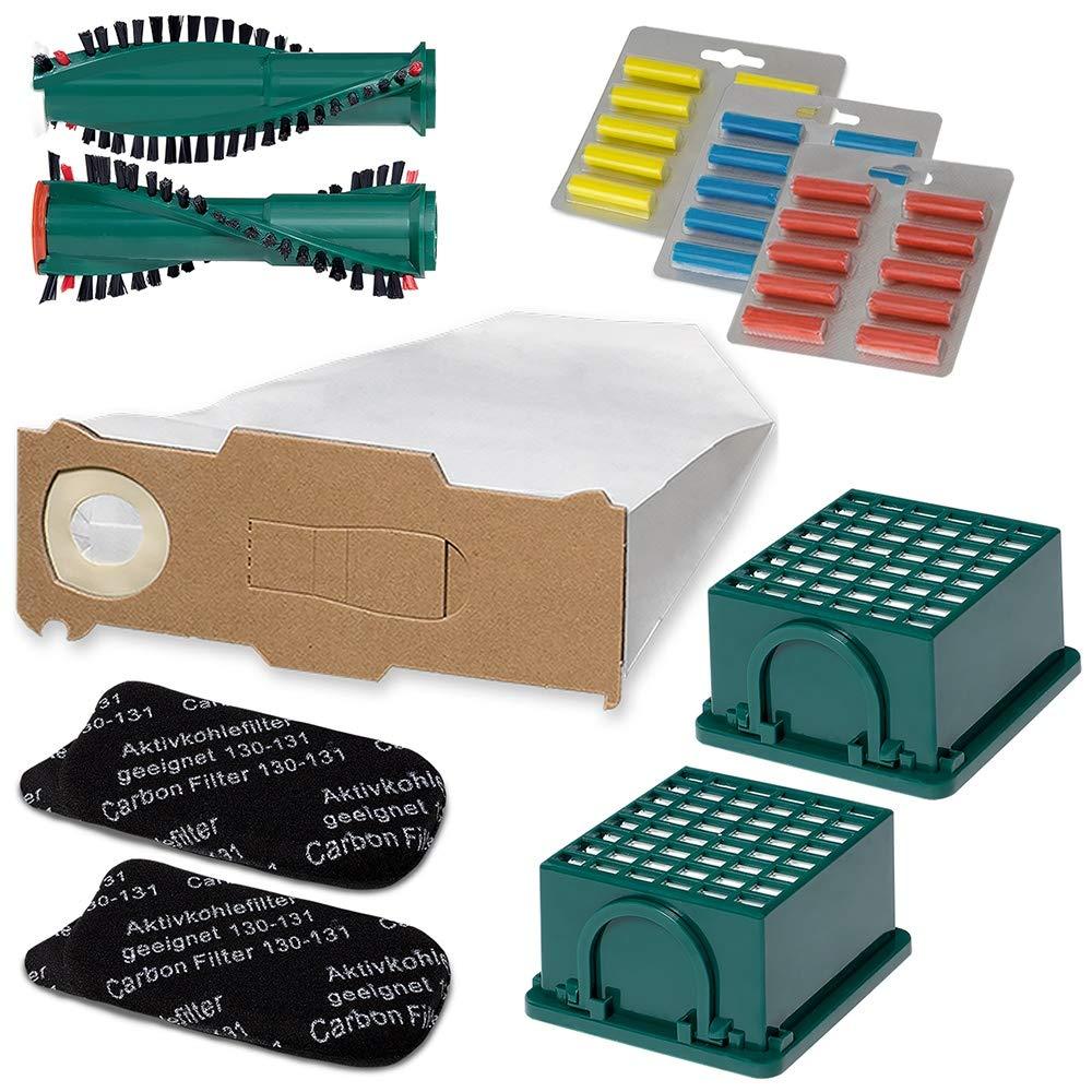 geeignet für Vorwerk Tiger 260 5 Filtertüten Vlies,1 Hgienefilter,1 Kohlefilter
