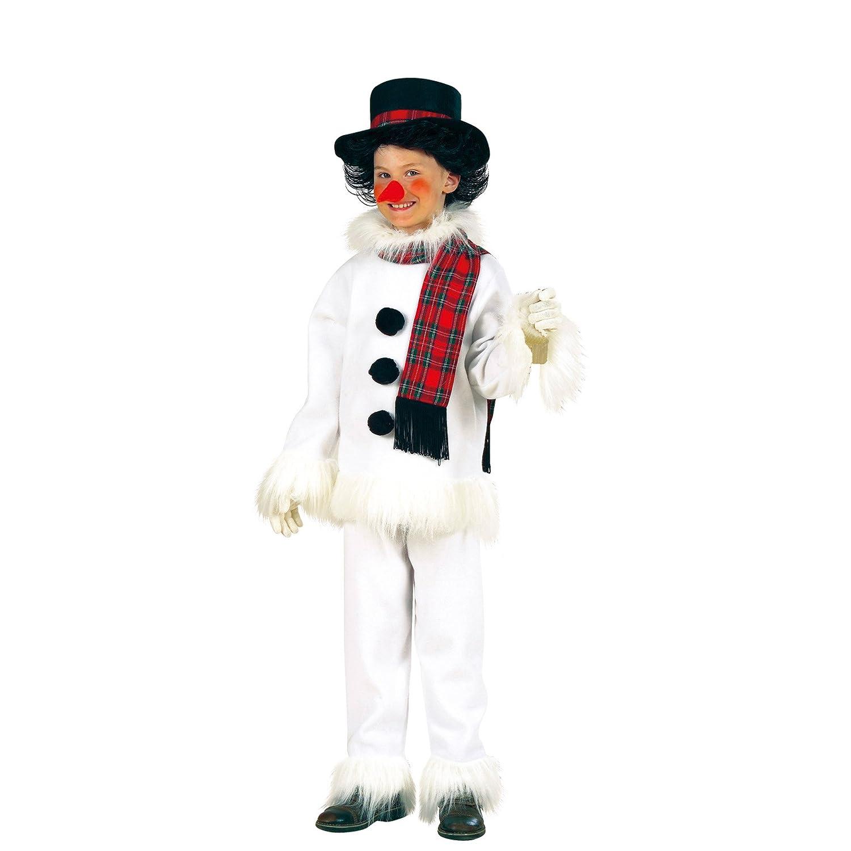WIDMANN 55737 Disfraz Para Niños Muñeco de nieve, abrigo, pantalones, gorro, bufanda y nariz