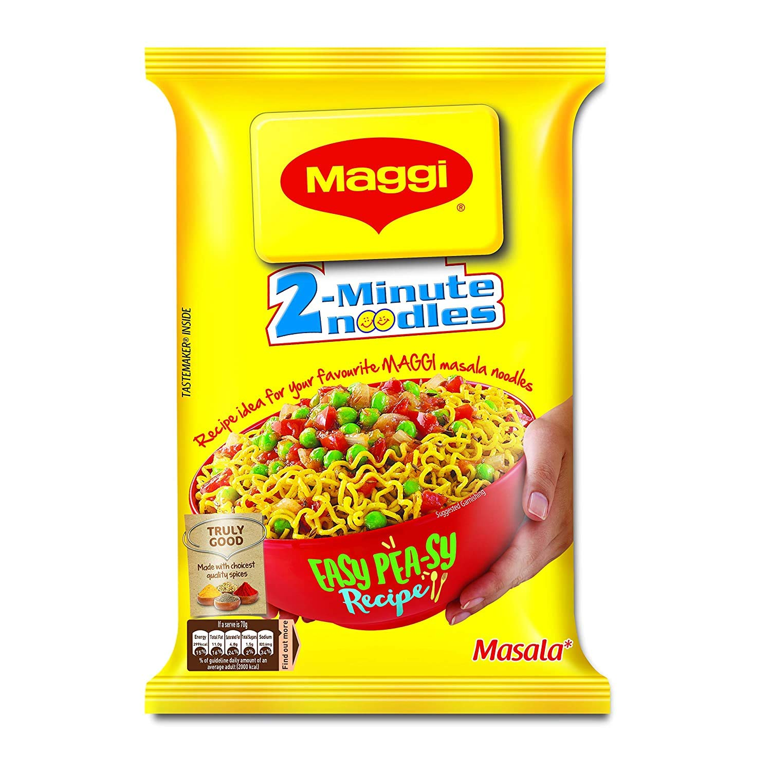 Maggi Masala 2-Minute Noodles India Snack - 5 Pack