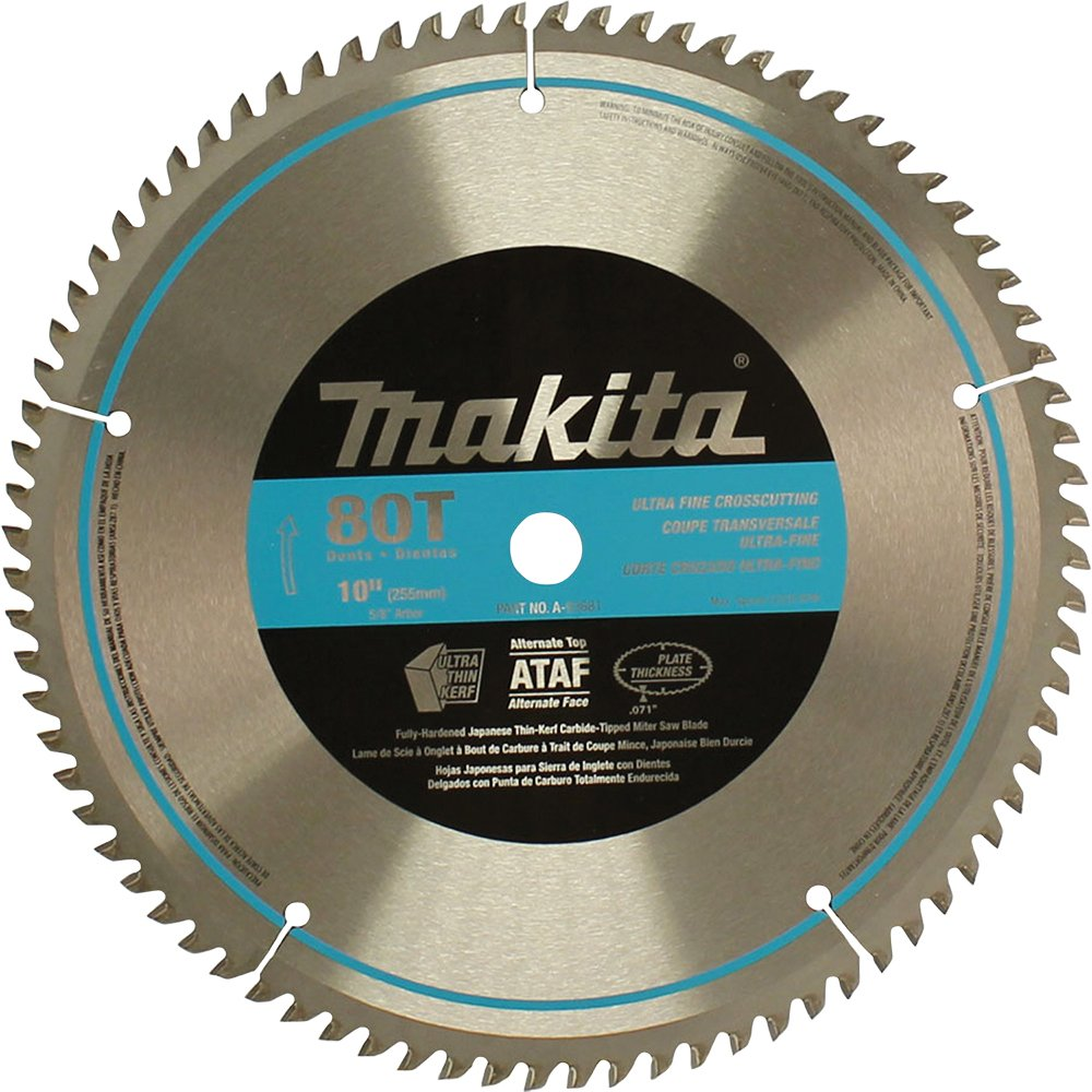 Best rated in miter saw blades helpful customer reviews amazon makita a 93681 10 inch 80 tooth micro polished mitersaw blade greentooth Gallery