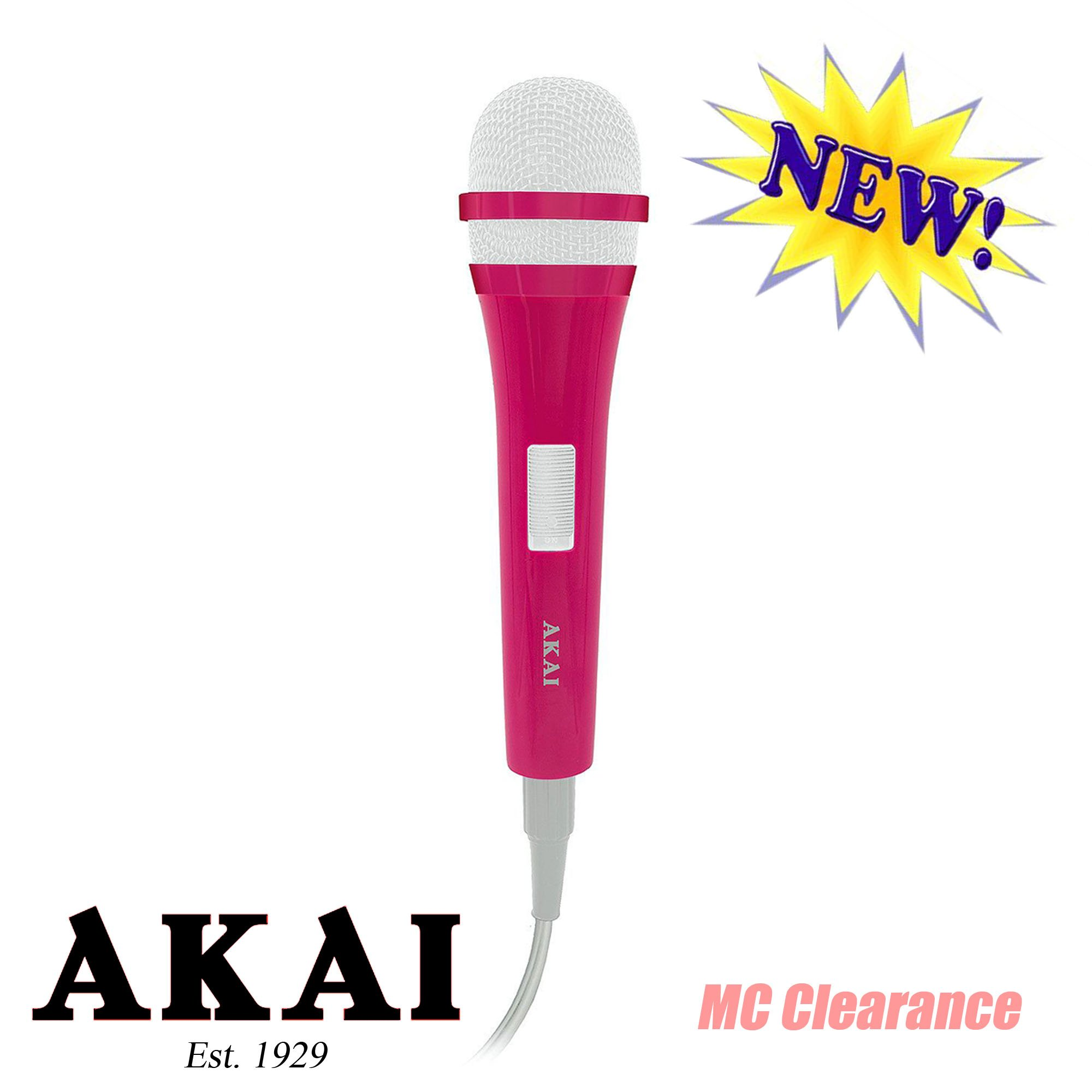 Akai Dynamic Microphone Unidirectional KS721XP with 10 Ft. Cord Pink color