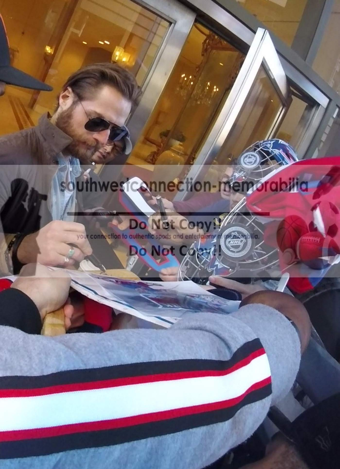 Washington Capitals Braden Holtby Autographed Hand Signed Capitals Logo Ice Hockey Stick Blade with Proof Photo of Signing and COA