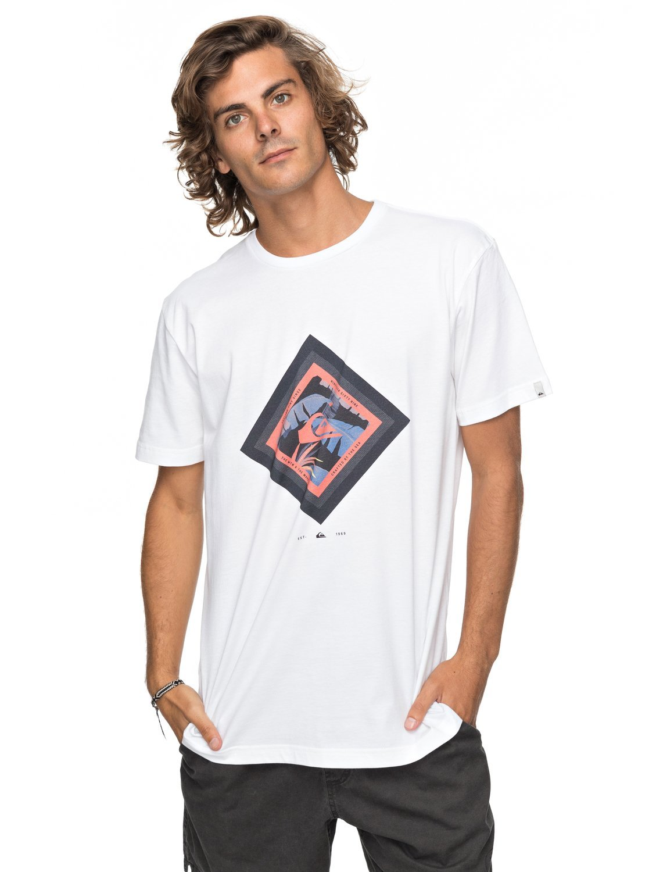 Quiksilver Classic Crimson Skyline Camiseta Hombre EQYZT04781