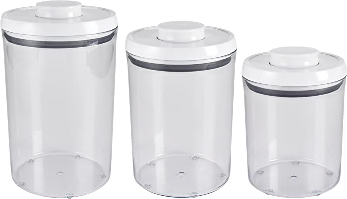 OXO Good Grips 3-Piece Airtight POP Round Canister Set