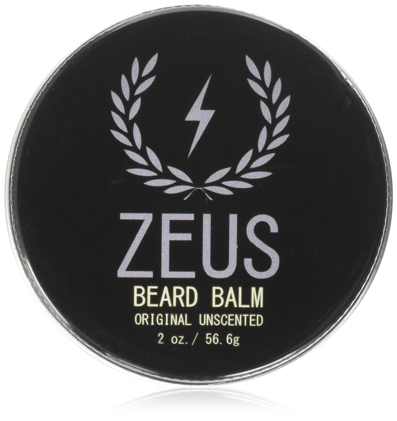 ZEUS Conditioning Beard Balm, Unscented, 2 Ounce