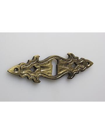 10 piezas escudo escudo de llave, escudo de mueble, bocallave metal alta calidad bruñido