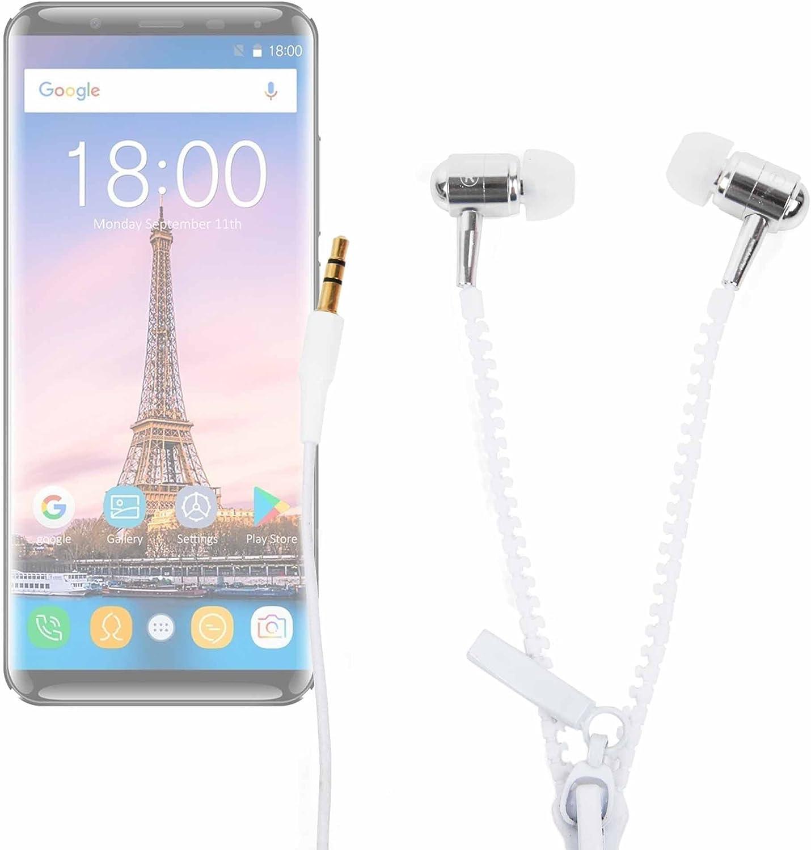 DURAGADGET Innovadores Auriculares con Cremallera para Smartphone OUKITEL K5000: Amazon.es: Electrónica