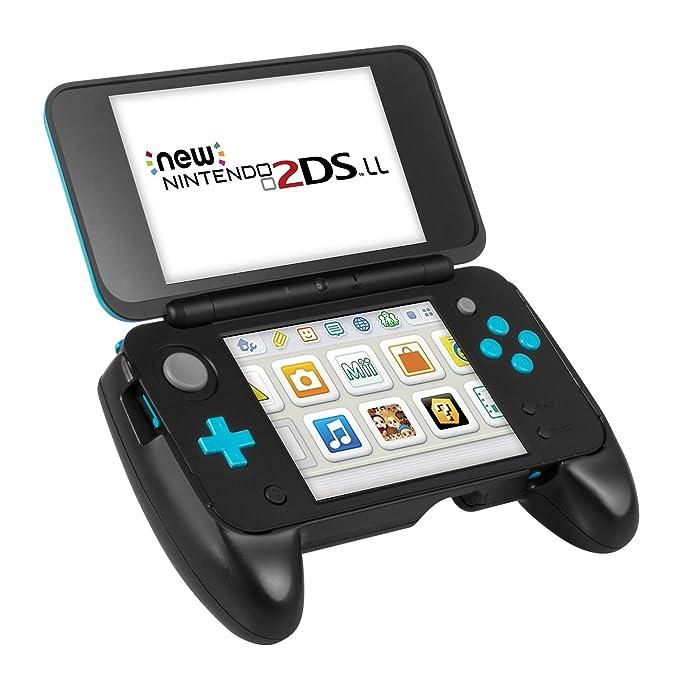 Carcasa New 2DS XL de Keten - Grip Nintendo New 2DS XL, Carcasa con Pestaña de Soporte y Mayor Agarre para la New Nintendo 2DS XL/LL 2017 (Negro)