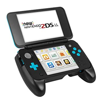 Carcasa New 2DS XL de Keten - Grip Nintendo New 2DS XL, Carcasa con Pestaña de Soporte y Mayor Agarre para la NEW Nintendo 2DS XL / LL 2017 (Negro)