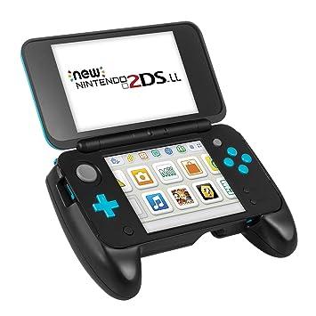 Carcasa New 2DS XL de Keten - Grip Nintendo New 2DS XL, Carcasa con Pestaña de Soporte y Mayor Agarre para la NEW Nintendo 2DS XL / LL 2017 (Negro)