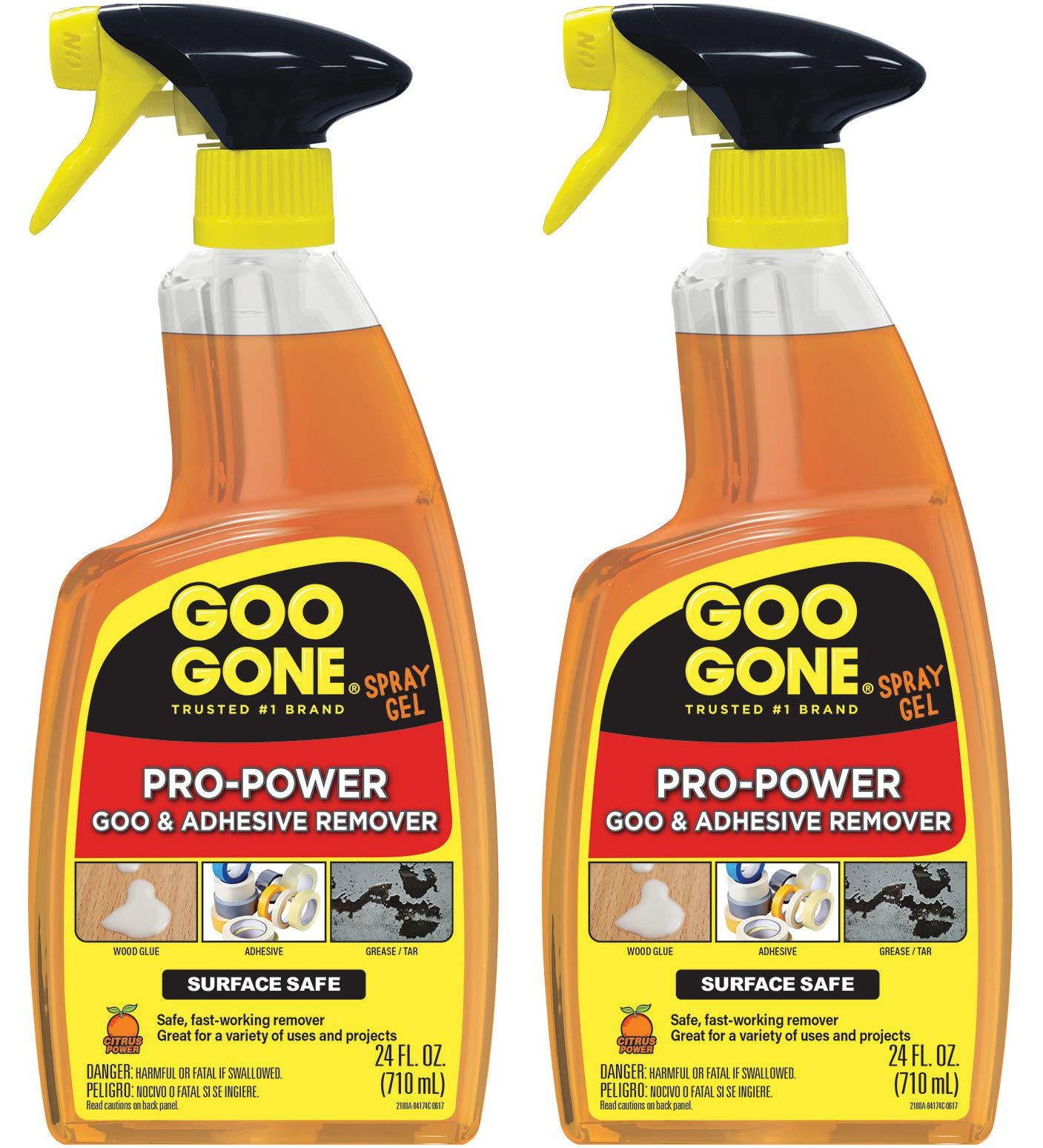 Goo Gone IUGYH Pro-Power Spray Gel - 24 Ounce - Surface Safe, Great Cleaner, No Harsh Odors, Removes Stickers, Can Be Used On Tools 2 Pack by Goo Gone (Image #1)