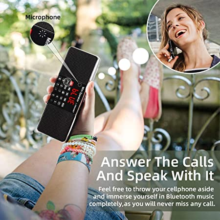 L-288 Radio portátil FM Am con Altavoz estéreo Bluetooth, Temporizador de Apagado, estación de Bloqueo, Tarjeta USB y TF y Reproductor de MP3 AUX, por PRUNUS(Noche): Amazon.es: Electrónica