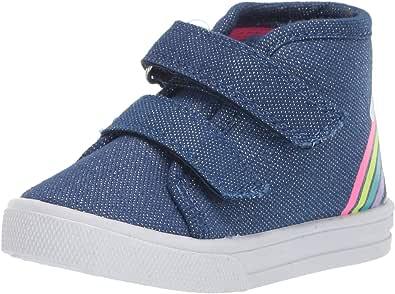OshKosh B'Gosh Unisex-Child OS191508 Mane Girl's Playful Canvas High-top Sneaker Blue Size: