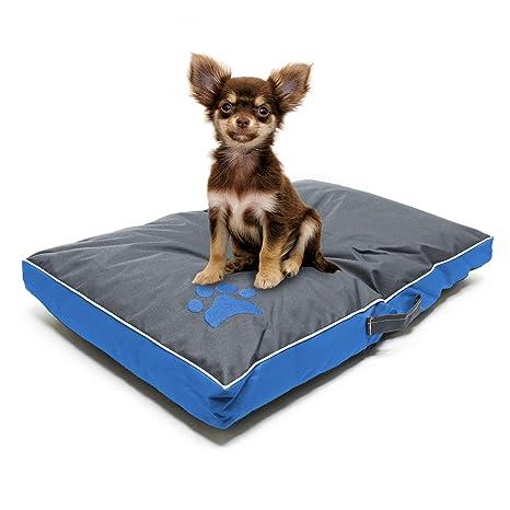 Cojín mascotas Outdoor Lavable XL Azul 105x65x8cm Cama perro gato Cesto Animales Accesorios mascotas