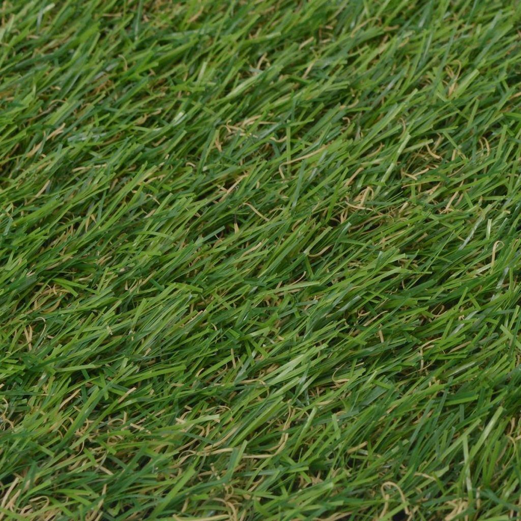 vidaXL Rasenteppich Kunstrasen Fertigrasen Garten Rasen Teppich 1x15 m//20-25 mm