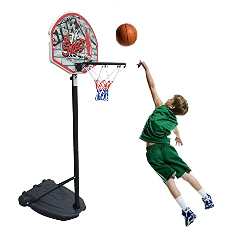 Juego de Canasta Baloncesto Infantil Portátil Altura Ajustable ...