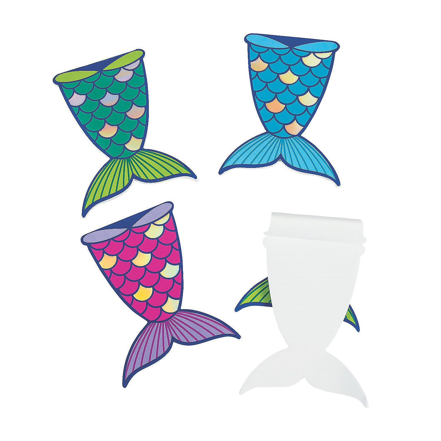 Mermaid Tail Mini Notepads by Fun Express