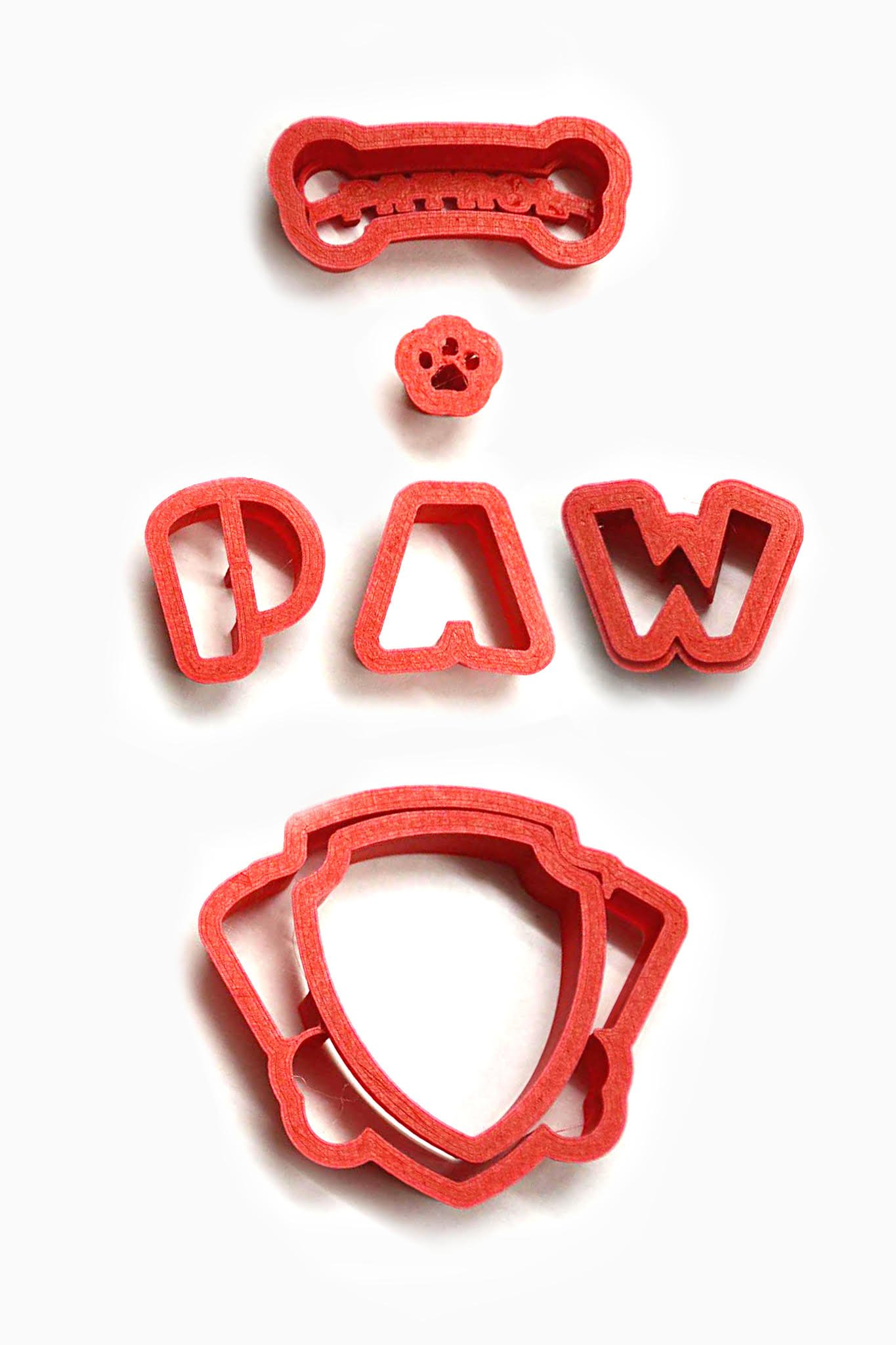 Paw Patrol Logo Cookie Cutter Set, choose 2, 3, 4, 5.5, 7, 9 or 11 inches. This cutter is a lot easier to use than trying to cut the logo out by hand. Absolutely (3 inch)