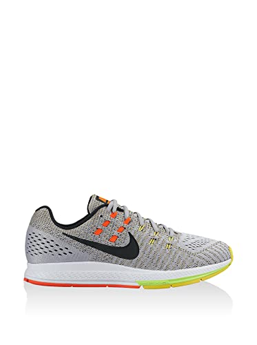 Nike Men's Air Zoom Structure 19, WOLF GREY/BLACK-OPT YELLOW-TOTAL