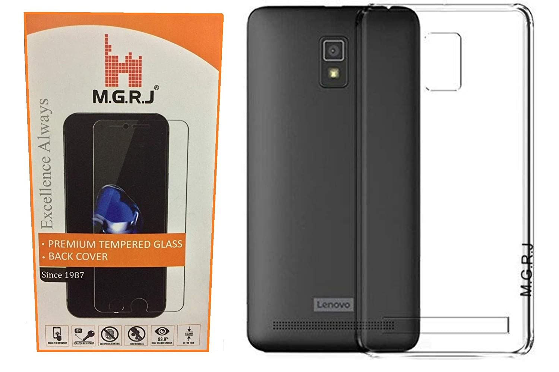 MGRJ Transparent Back Case Cover For Lenovo A6600 Plus