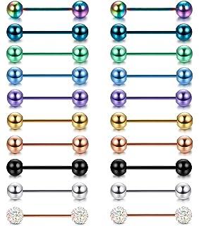 Amazon.com: D. Bella 14 G nipplerings, 12pcs-20pcs pezón ...