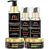 Man Arden The Maverick Beard Care Kit: Beard Shampoo + Beard Oil + Beard serum + Beard Wax + Beard Balm