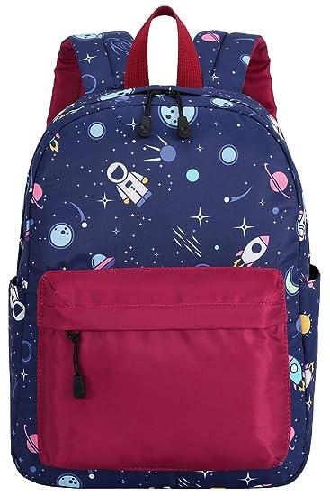 8e0223ef9 Kids Backpack Preschool Backpack for Boys Girls Kindergarten Bookbag Water  Resistant (E0038-Space)