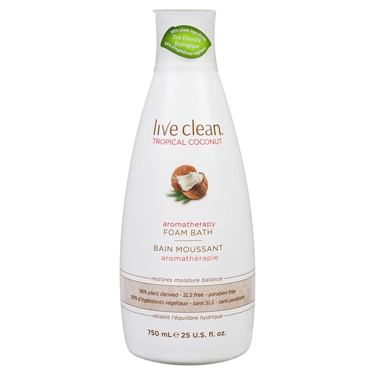 Live Clean Tropical coconut aromatherapy foam bath, 750 Milliliter Belvedere Intl