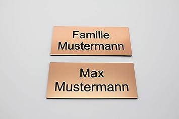 Cartel para puerta con grabado de bronce cobre - Placa para ...