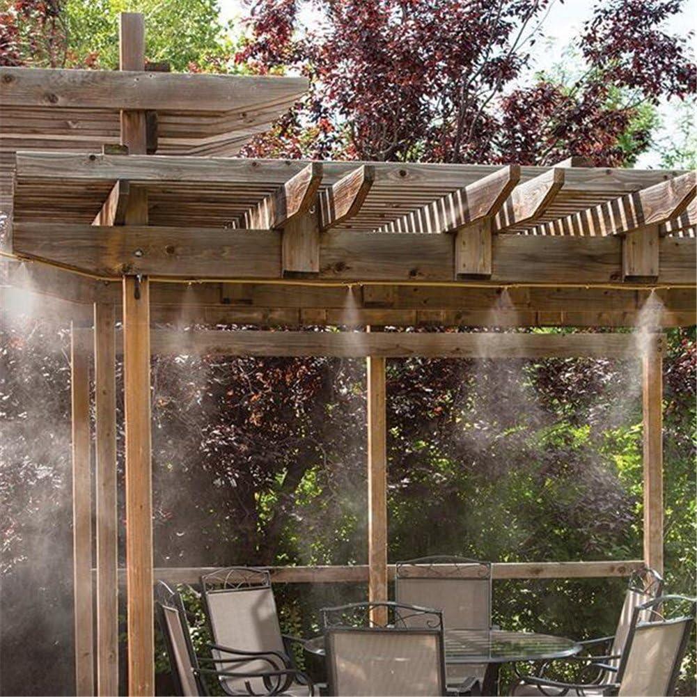 Kit de sistema de refrigeración humidificador, 6 m, pulverizador de agua con boquillas para jardín, patio, microrriego: Amazon.es: Jardín