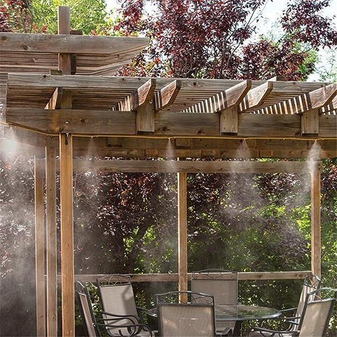 Kit de sistema de refrigeración humidificador, 6 m, pulverizador de agua con boquillas para jardín, patio, microrriego
