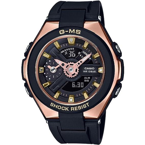 Casio Reloj Analógico-Digital para Mujer de Cuarzo con Correa en Plástico MSG-400G-1A1ER: Amazon.es: Relojes