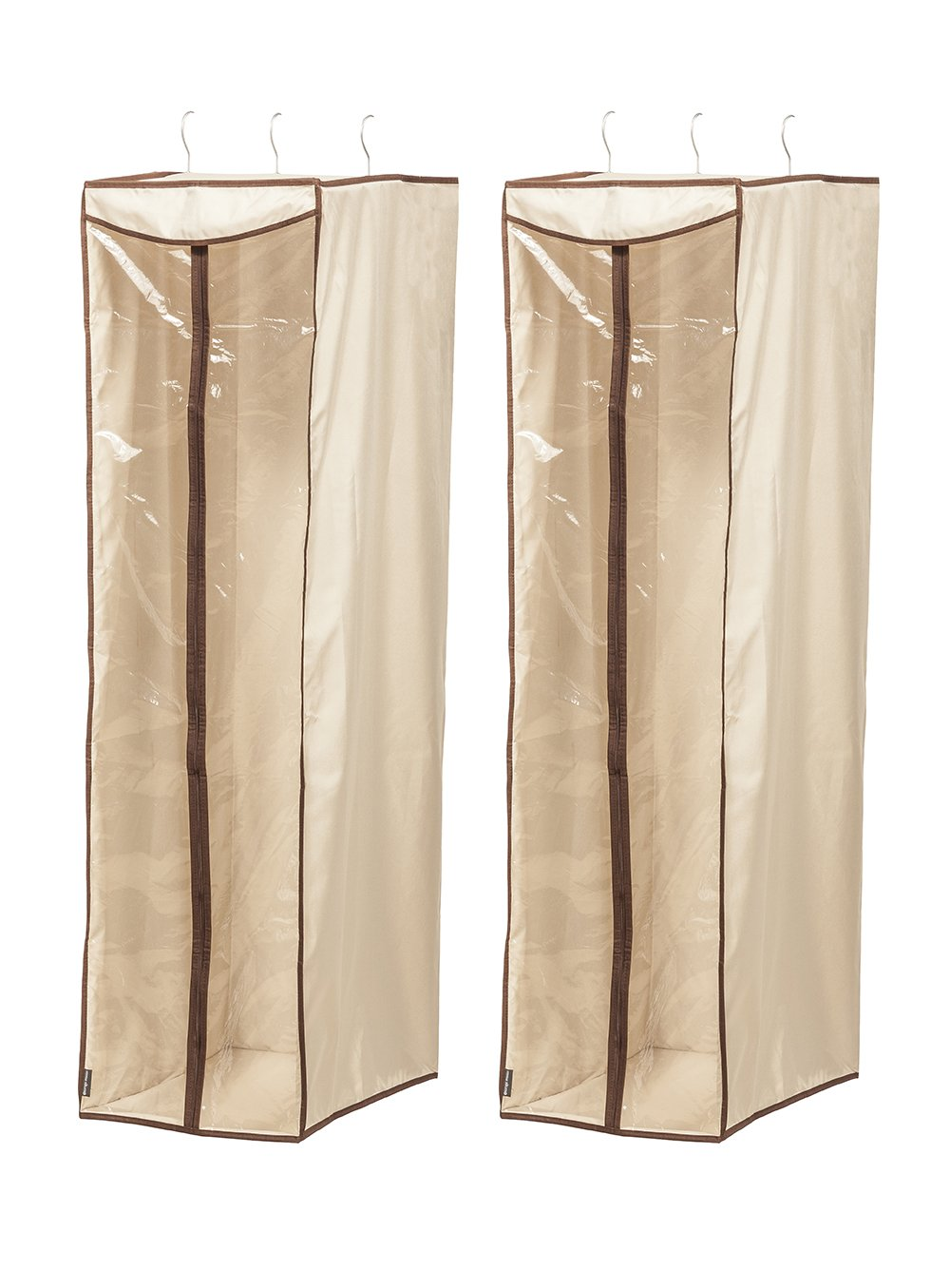 STORAGE MANIAC Hanging Garment Bag Cover with Visible Window, Garment Clothing Organizer, 2-Pack