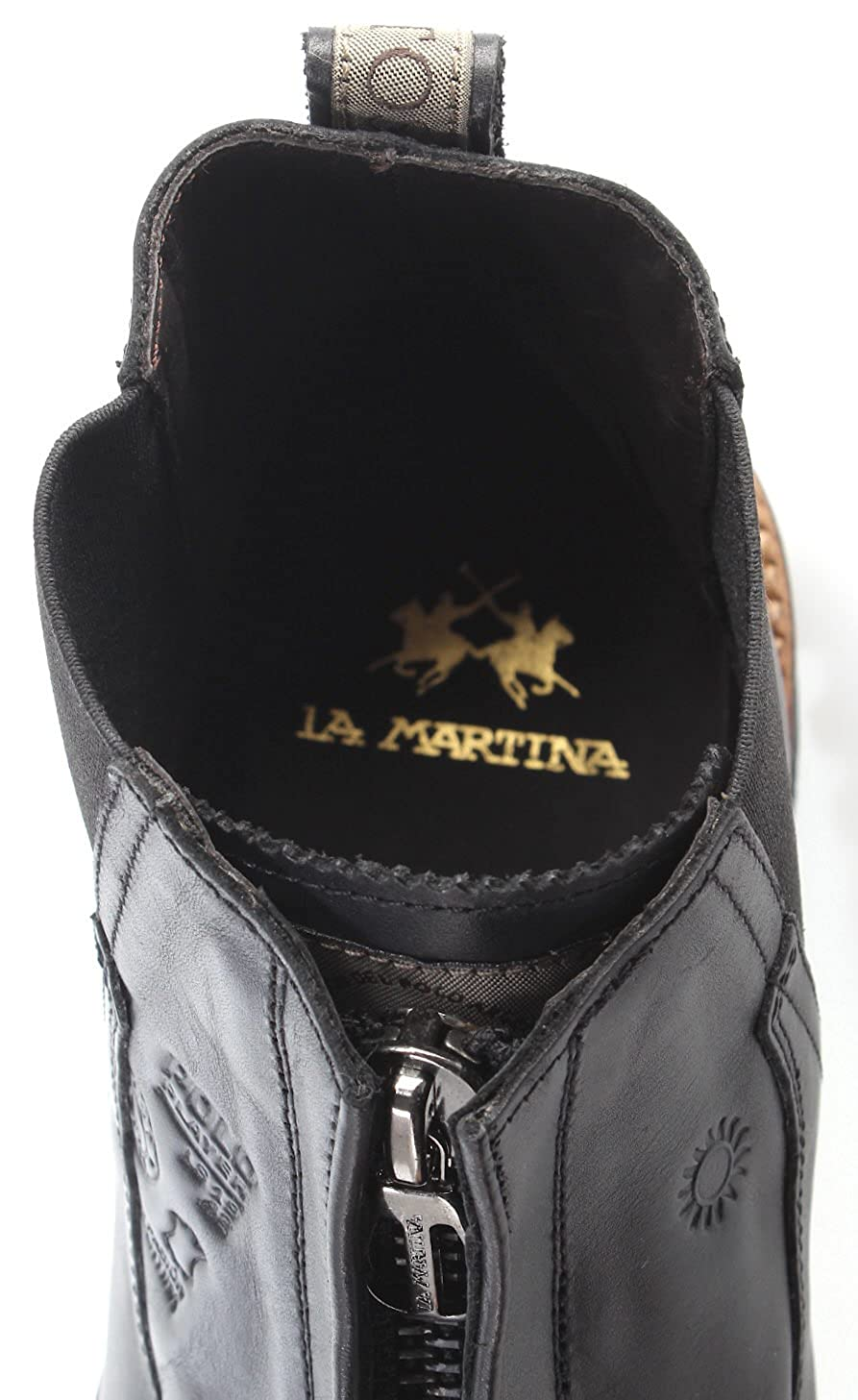 La Martina Scarpe Stivaletti Uomo L4027159 Buttero Nero Pelle Made in Italy  New  Amazon.it  Scarpe e borse 6a0849646d2