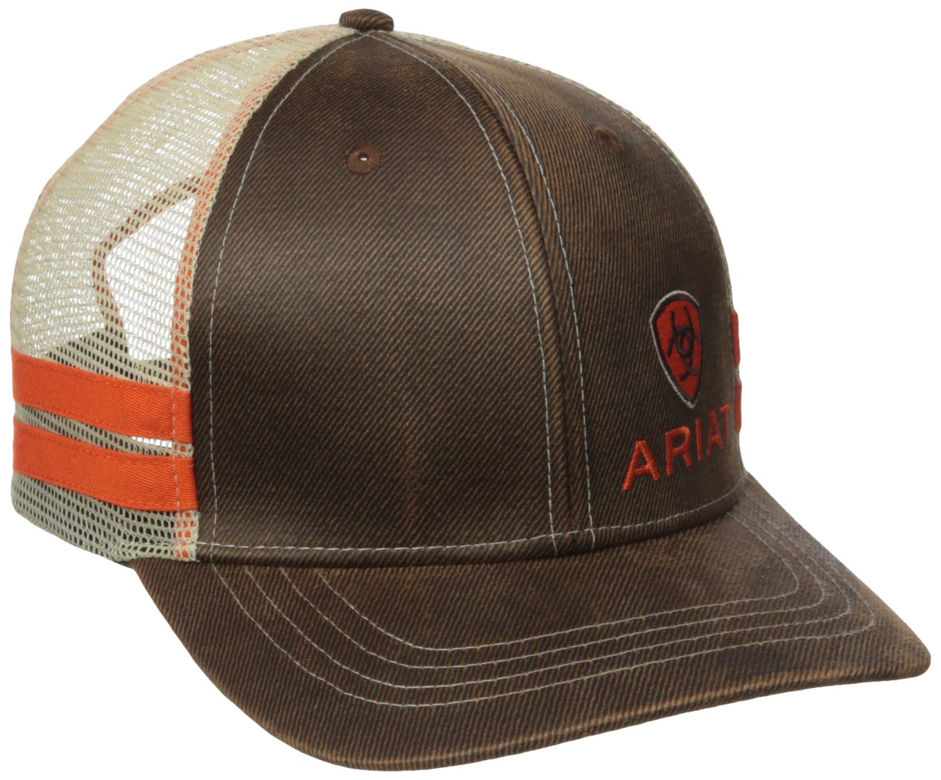 Ariat Men's Oil Corner Side Stripe Mesh, Brown, One Size