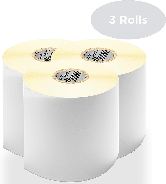 """3 rotoli adatto per stampanti zebra toshiba citizen 500 etichette 102 x 152 mm // 6/"""" x 4/"""" compatibile con tutti i tipi di corrieri Duronic LL4X6 //3 Etichette adesive per stampante termica"""