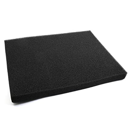ZCHXD Black Rectangular Bio Absorbent Filter Sponge for Betta Aquarium 23.6 x 17.7 Inches