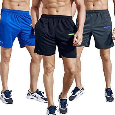 "1994Fashion Men's Running Shorts Gym Active Shorts with Pockets Quick Dry 7"" for Sports, Trainning, Workout"