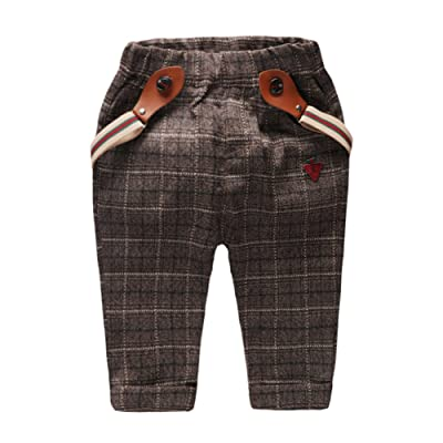 Coodebear Little Baby Boys Girls Cotton Pants Suspenders Trousers 0-3 Years