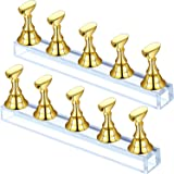 2 Sets Acrylic Nail Display Stand Nail Tip Practice Holder Magnetic Nail Practice Stand Fingernail DIY Nail Art Stand…