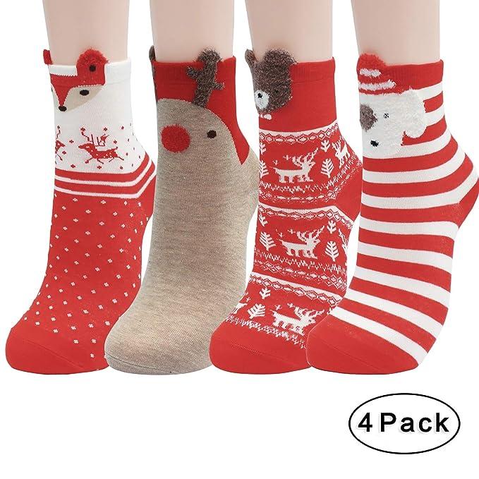 76d1067daf8 CHRLEISURE Fuzzy Slipper Socks for Women - Cozy Winter Fluffy Socks ...