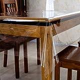 Wasinon 180 * 250 cm PVC Rectangulaire en Housse de table - Imperméable,Anti-huile,Anti-chaud,Housse de Table Transparente