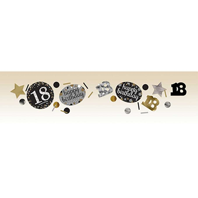 amscan - Confeti 18 Cumpleaños en dorado (34g/Oro): Amazon ...