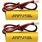 GLESOURCE(2 Pack)1.2V 1100mAh Exit Sign Emergency Light NiCad Battery, Replacement Battery for Unitech AA900mAh OSA268…