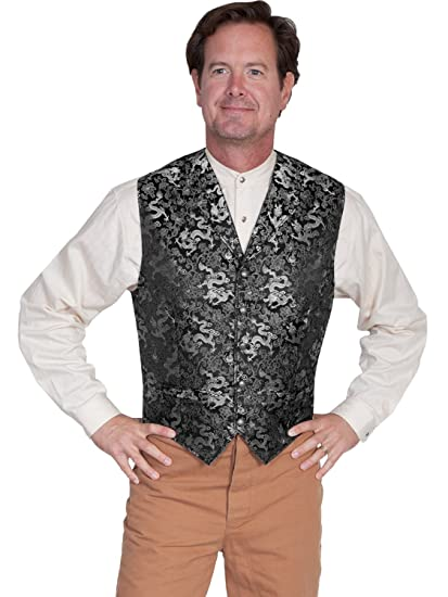 Victorian Men's Vests and Waistcoats Old West Classic Dragon Vest  AT vintagedancer.com