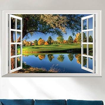 Longless Fake Fenster Aussicht, Hintergrund Wohnzimmer Veranda, TV Wand,  Dekoration Aufkleber