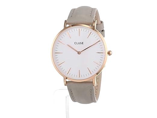 d72fd1a6f4e Cluse Women s La Boheme 38mm Grey Leather Band Metal Case Quartz Watch  CL18015  Cluse  Amazon.ca  Watches