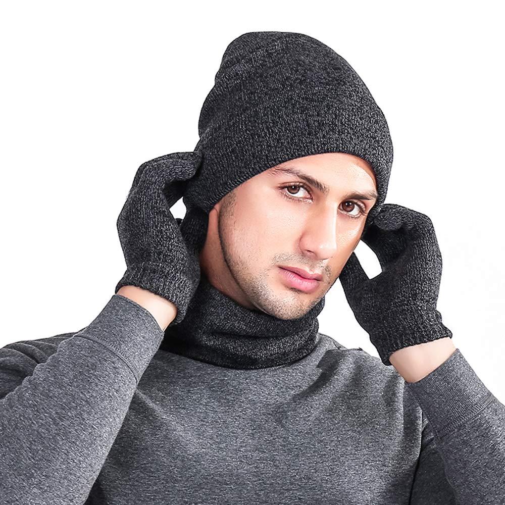 af1c06b349 Herren Damen Mütze Schal Handschuh Sets Warme Winter Accessorie Strick  Wintermütze Loop-Schal Handschuhe mit Fleecefutter [1541634064-408998] -  AU$12.83