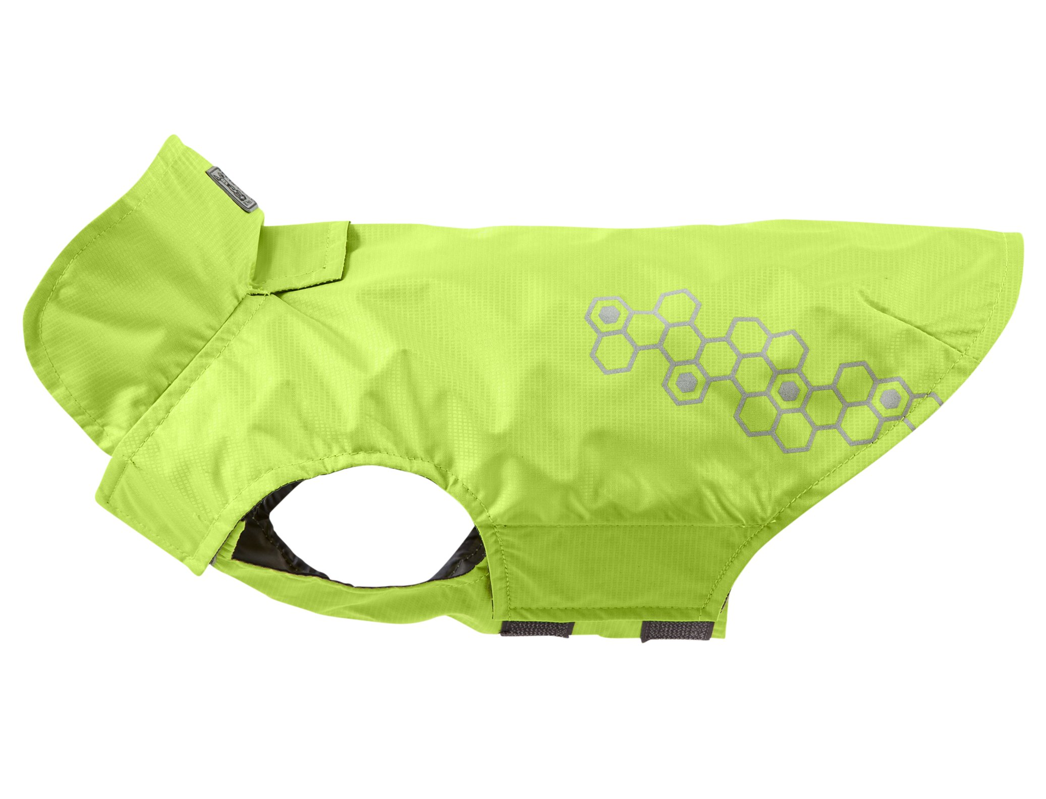RC Pet Products Venture Shell Reflective, Water Resistant Dog Coat, Size 16, Lime Punch