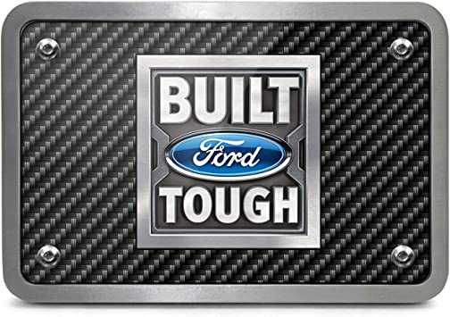 Made in USA Ford F-150 2009-2014 UV Graphic White Metal Plate on ABS Plastic 2 inch Tow Hitch Cover
